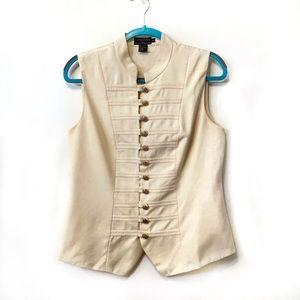 J.McLaughlin 100% Silk Military Inspired Vest